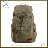 Custom Army Green Canvas Travel Bag Hiking Backpack