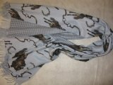 100% Cashmere Double Faced Printed Shawl Horseriding