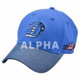 Royalblue Baseball Caps with Denim Flat Bill