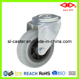 Grey Rubber Bolt Hole Caster (G102-32D080X25)