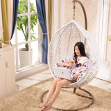 White Special Fashionable Single Rattan Weaving Basket Swing (D011)