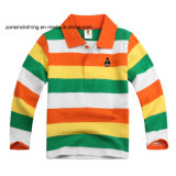 Colorful Striped Lapel Children Polo T-Shirt
