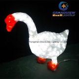 LED Acrylic Goose Christmas Decoration Motif Light