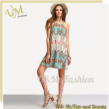 Women Ethnic Style Dresses Baroque Floral Print Summer Beach Dress