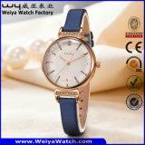 Fashion Wholesale OEM/ODM Leather Strap Quartz Ladies Watch (Wy-102A)