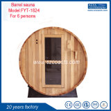 2-6 Person Barrel Sauna Red Cedar Traditional Cedar Wood Sauna