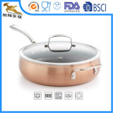 Copper Cookware 5qt Sauce Pan with Lid