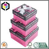 Fashion Design Color Print Rigid Cardboard Gift Paper Box Set