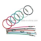 Colored PVC Coated Stainless Steel Rope Keychain
