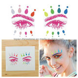 Newest Neon Color Eye Rock Festival Rhinestone Diamond Sticker for Party (S026)