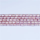 5mm 6mm Rice Pearl AA Quality Lavender Color