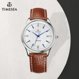 Men′s Sapphire Analog Leather Strap Watch 72659