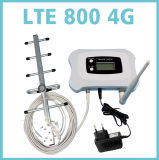 Smart LTE 800MHz Mobile Signal Booster/Repeater with LCD Display + Yagi Antenna Work for 4G