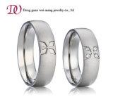 Matte Finish Sterling Silver Ring Bridal Wedding Engagement Ring