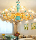 Franch and Luxury Golden Zinc Alloy Pendant Lamp