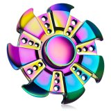 Wholesale Rainbow Metal Stress Relieving Fidget Finger Spinner Toys