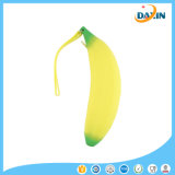 Custom Printed Banana Shape New Fashion Silicone Pencil Case
