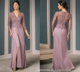 Lace Mother Prom Dresses Purple Formal Evening Dresses M71025
