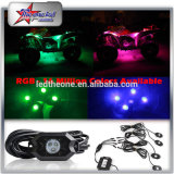 Mini LED Strobe Rock Light, Single Color LED Rock Light 9W LED Heads, IP 68 Waterproof Rock Light