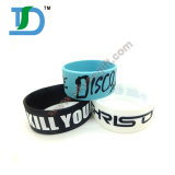 Cheapest Personalized Debossed Color Filled Silicone Wristband