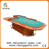 Gambling Wood Table with Metal Frame Zodiac Casino