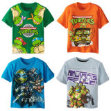 Summer Kids Lovely Round Collar Children T-Shirt Boys (A540)