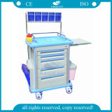 AG-At001A1mobile ABS Material Hospital Anesthesia Trolley with Good Price