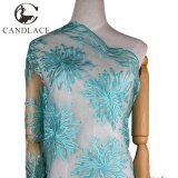 Water Green African Lace Embroidery Fabric for Wedding Dress