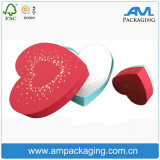 Red Heart Shaped Cardboard Rigid Chocolate Packaging Box with PVC Display Window