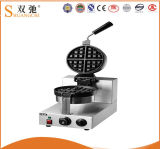 Waffle Baker with Stainless Steel for Snack Bar
