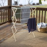 Collapsible Folding Wooden Clothes Drying Rack for Laundry Pre Assembled