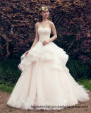 2018 Lace Bridal Dresses Puffy Organza Wedding Ball Gowns Z2029
