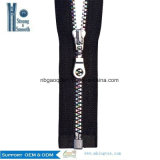 #5 Open-End Thin Resin/Plastic Zipper for Clothes in Stock