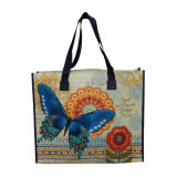 Lady Girl Leisure Non Woven Tote Handbag for Shopping and Travel Packing