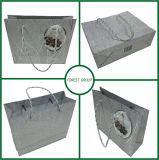 Special Silver Shiny Paper Shopping Bag