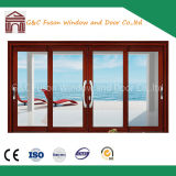 2 Tracks 4 Panels Automatic Interior Aluminum Sliding Door