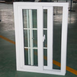 Double Pane Sliding PVC Window with Grills Design