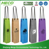 Fashion Wine Kraft Paper Promotional Bag for Shopping Packaging Gift Package (MECO195)