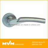 Stainless Steel Door Handle on Rose (S1027)