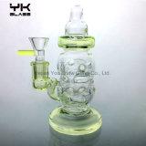 Fluorescence Feeding Bottle Glass Bubbler pipe Recycler Glass Waterpipe