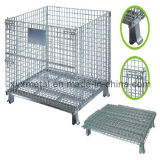 1.2X1.0m Collapsible Folding Warehouse Logistic Trolley Roll Wire Mesh Storage Cage