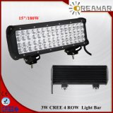 180W 15inch 18000lm Four Row CREE LED Light Bar