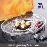 "12.5"" Hight White Glass Fruit Plate"