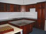 Cherry Solid Wood Kitchen Cabinet (JX-KCSW038)