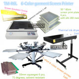TM-R6k Hot Sale 6-Color Manual T-Shirt Textile Screen Printing Machine