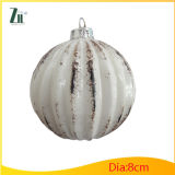 White Christmas Glass Ball for Decoration