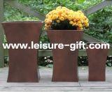 Fo-9707 Galvanized Planter Zinc Flower Pot