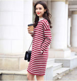 Women′s Cashmere Dress with Round Neck (13brdw106)