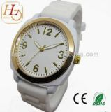 Hot Fashion Alloy Watch with Silicone Band 15071