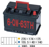 12V63ah Starting Mf Car Battery for Car/Auto/Vehicle/Automotive/Automobile (56318MF)